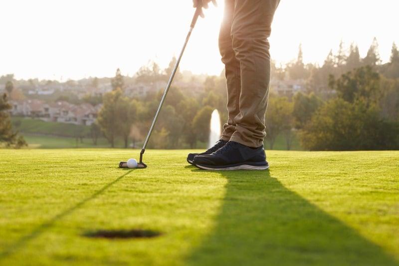 Feet & Golf Ball